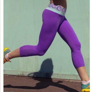 Lululemon Run Inspire Crop II Leggings Purple